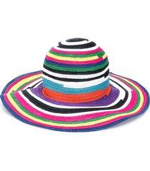 missoni mare woven striped sun hat - purple