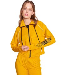 chaqueta everlast rusia amarillo - calce holgado