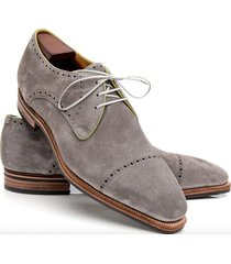 handmade oxford suede leather shoes, men gray  dress formal shoes for men's