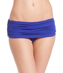 ruched low-rise bikini bottom
