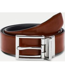 tommy hilfiger men's reversible leather belt black / cognac - 44