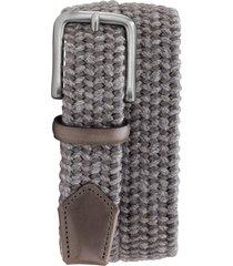 men's trask falcon woven belt, size 42 - gray italian woven