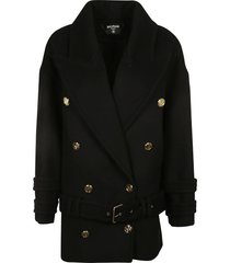 balmain double-breasted belted coat