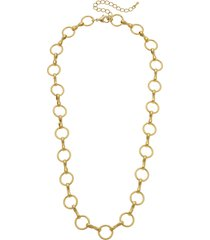 women's canvas jewelry brie chain link necklace