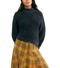 women's free people sweetheart mock neck sweater