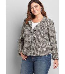 lane bryant women's boucle jacket 26 boucle
