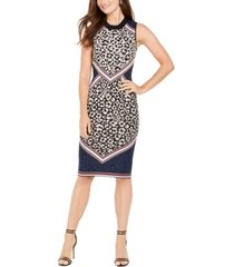 vince camuto animal-print sweater dress