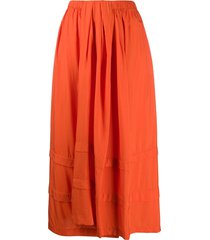 christian wijnants tonal panel detail skirt - orange