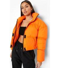 gewatterde jas met hoge hals, orange