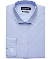 tommy hilfiger light blue floral slim fit dress shirt