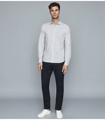 reiss jesmond - jersey shirt in soft grey, mens, size xxl