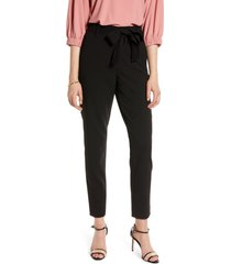 women's halogen tie waist twill ankle pants, size 16