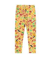 legging livy veráo cotton estampado tucano amarelo