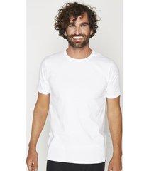 camiseta manga corta algodón blanca mota