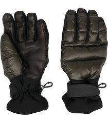 moncler grenoble padded snow gloves - green
