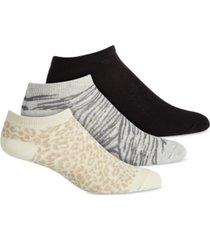 jenni low-cut 3pk animal print socks, created for macy's