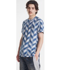 geometric jacquard t-shirt - white - xl