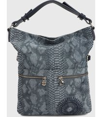 bolso gris desigual