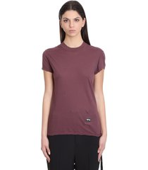 drkshdw smal llevel tee t-shirt in bordeaux cotton