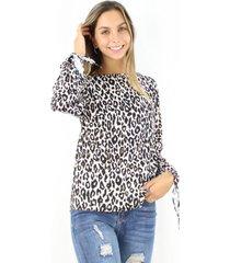 blusa serena animal print jacinta tienda