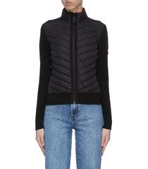 'hybridge' puffed zip jacket