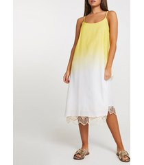 river island womens yellow ombre crochet midi beach dress