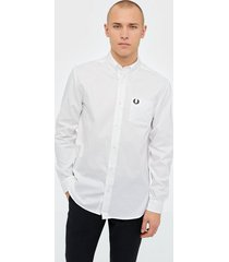 fred perry oxford shirt skjortor white