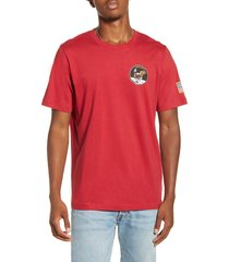 men's alpha industries apollo t-shirt, size xx-large - red