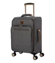 "it girl 22"" glisten softside semi-expandable carry-on suitcase"