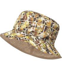 fendi reversible ff motif hat - yellow
