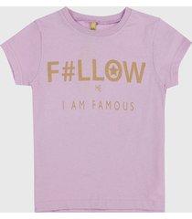 camiseta lila-dorado people éxito