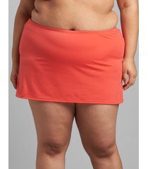 lane bryant women's eco-friendly slitted swim skirt 28 starfish coral