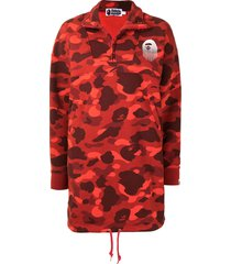 a bathing ape® camouflage-print jersey dress - red