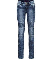 jeans skinny con impunture modellanti (blu) - rainbow
