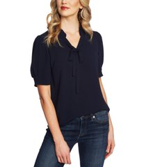cece ruffled v-neck tie top