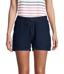 boucle drawstring shorts