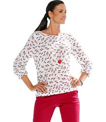 blouse amy vermont wit::rood::zwart