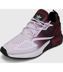 tenis lifestyle lila-violeta adidas originals zx 2k boosr w