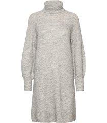 yasallu ls roll neck dress s. knälång klänning grå yas