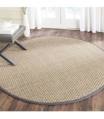 safavieh natural fiber natural and dark gray 10' x 10' sisal weave round area rug