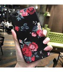 cellphone case silicone flower full body soft cover for iphone 7 6 plus 6s 5 5s