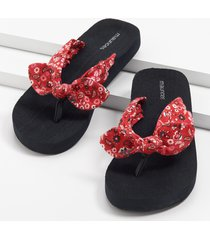 maurices womens leah red bandana print flip flop