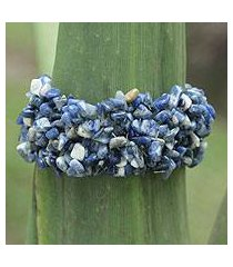 sodalite stretch bracelet, 'light of peace' (brazil)