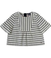 blusa azul-blanco hueso  tommy hilfiger
