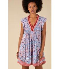 poupette st barth mini sasha dress blue bloom
