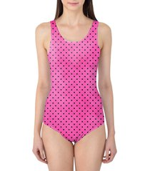 hot pink polka dots women's swimsuit