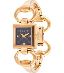 gucci pre-owned tornabuoni 120 wrist watch - gold