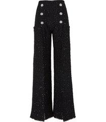 tweed broek met knopen