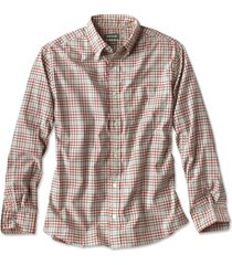 beacon stretch plain weave long-sleeved shirt, tan/multi, xx large