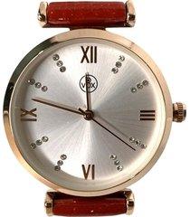 reloj analogo rojo vox